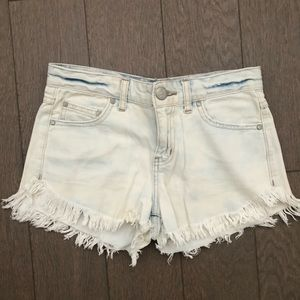 Free People Whitewash Denim Shorts